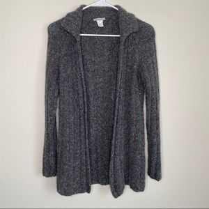 J.Crew Gray WoolBlend Button Long Cardigan Sweater